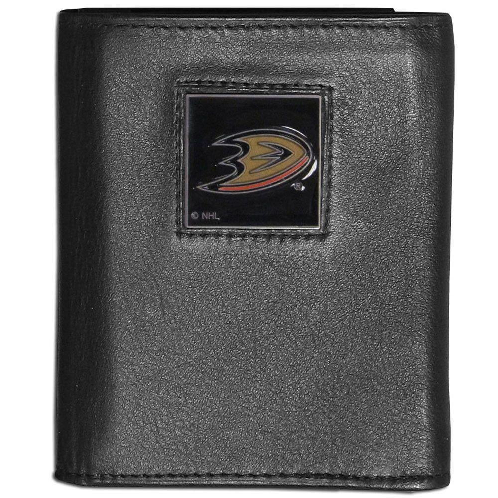 Anaheim Ducks® Leather Tri-fold Wallet