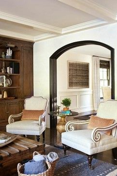 Mediterranean Stucco Trim Living Design Ideas, Pictures, Remodel and ...