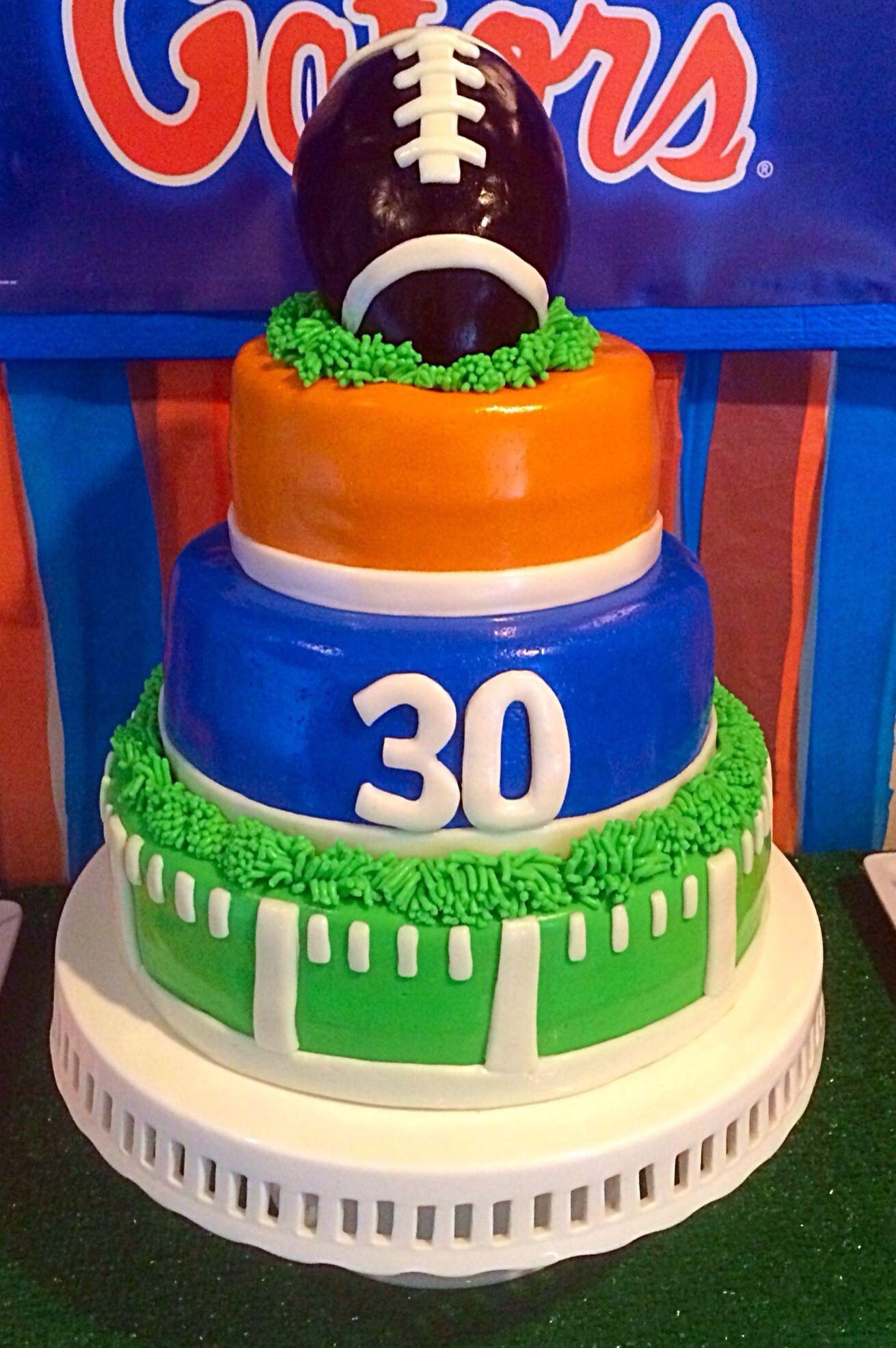 Florida Gator Cake Florida Gators 30th Birthday Football Party