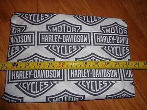 1 Yard 36 X 20 Wide Harley Davidson Fabric Black Gray White Shield New Harley Davidson Fabric Harley Davidson Sewing Fabric