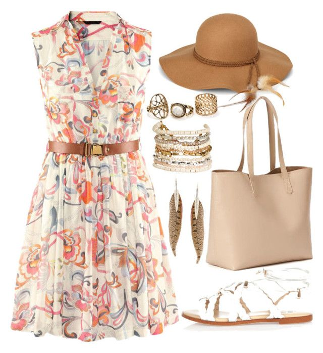 """""""Just try on"""" by joslynaurora on Polyvore featuring River Island, Old Navy, Steve Madden, Panacea, Roberto Cavalli, dress, sandals and Dressunder50"""