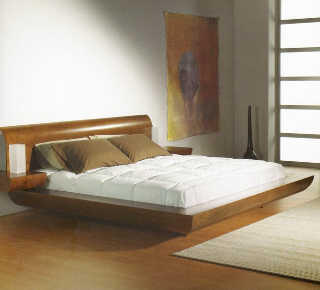 Bedroom Decorating Ideas With Dark Furniture Low Profile Bed Walnut 650x590