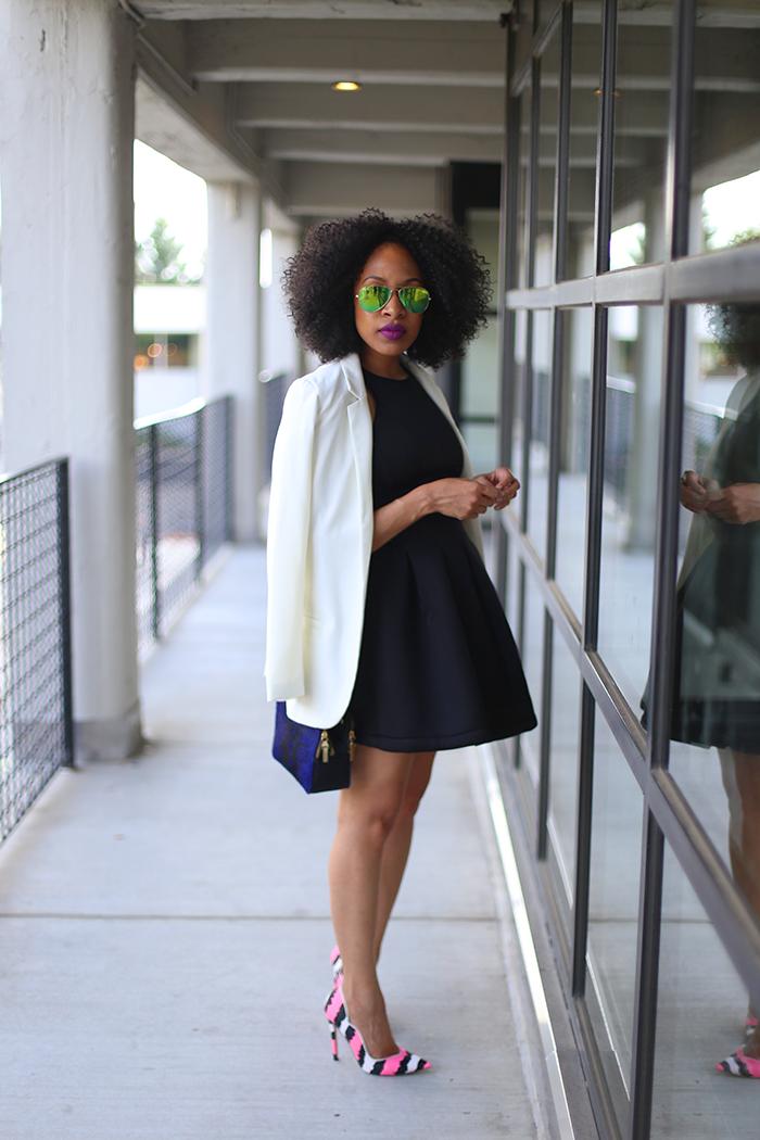 Little Black Dress   White Blazer | Blazers, Stylish and Black