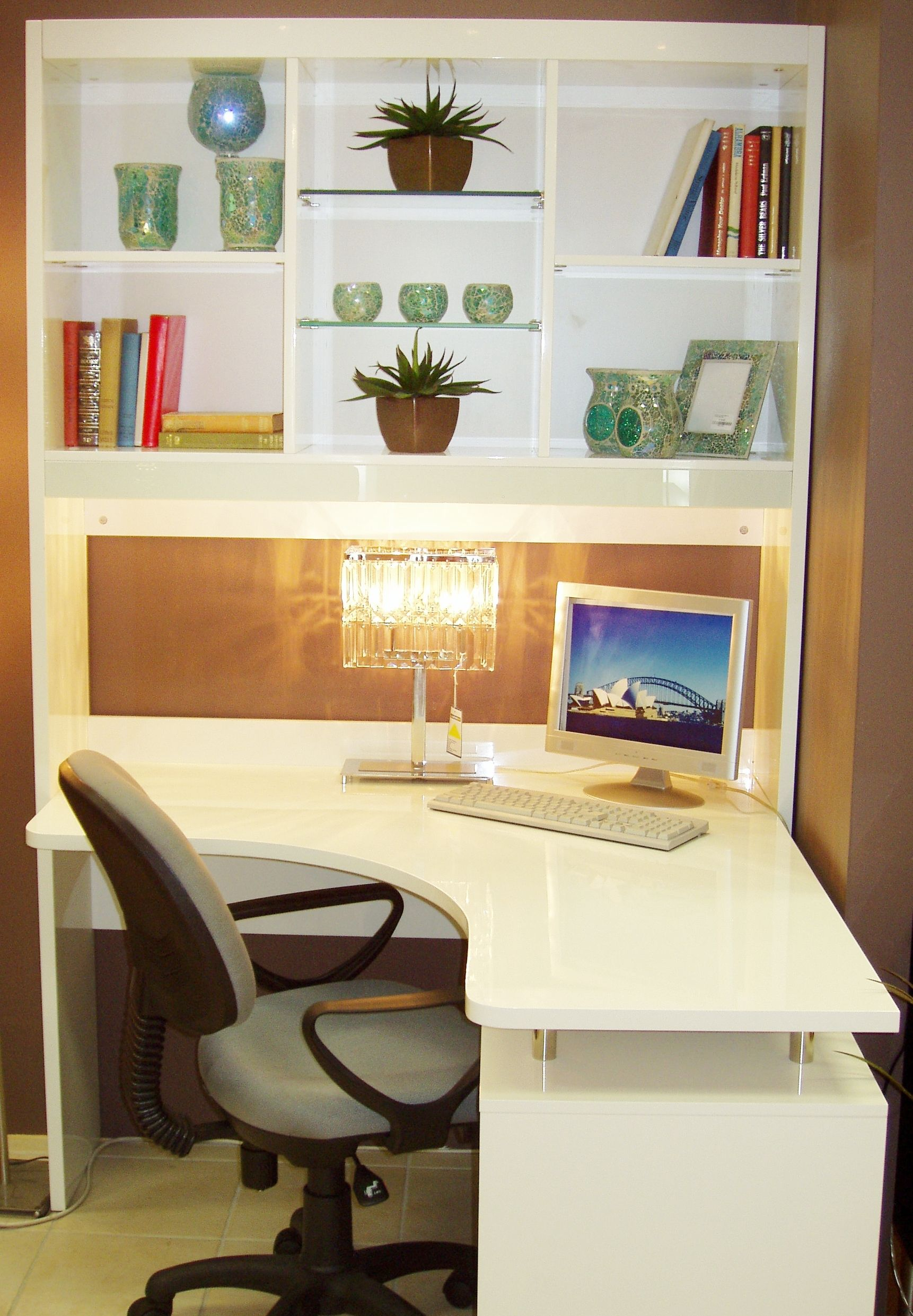 Corner Desk and Shelves - Beautiful Living Room Furniture ...