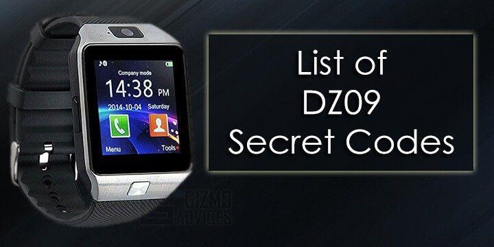 Dz09 Smartwatch Secret Codes Complete List Skynet Secret Code