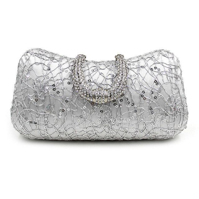 Milisente Red Designer Clutches Luxury Crystal Evening Bags Silver ...