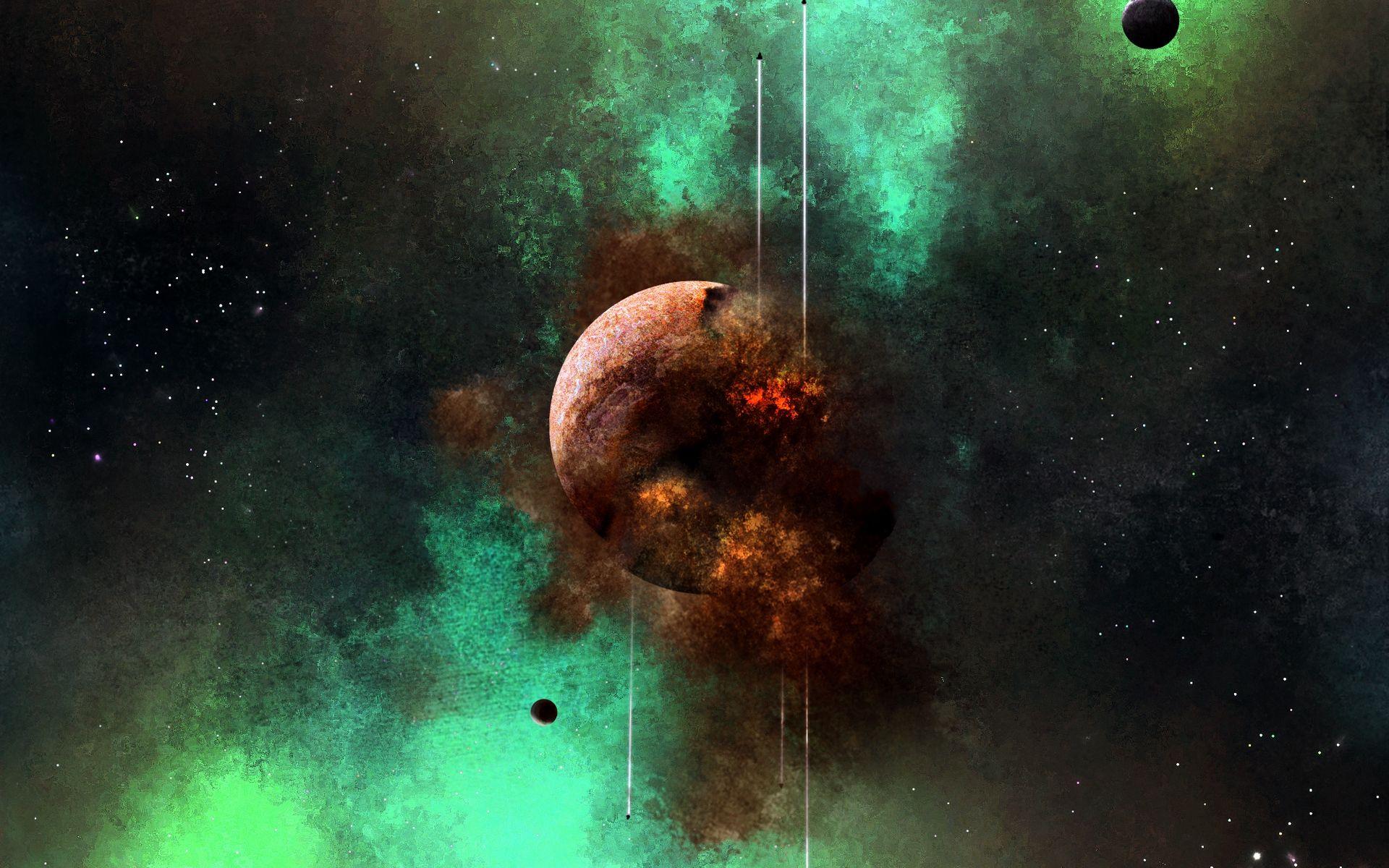 Planet Destruction View Hd Wallpaper Wallpaper Hd Wallpaper Planets