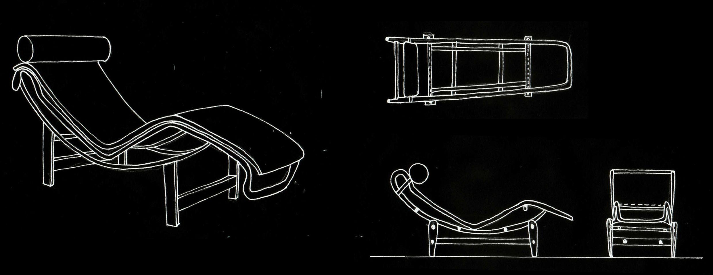 TER Ej 3 El alma del mueble Chaise longue Le Corbusier