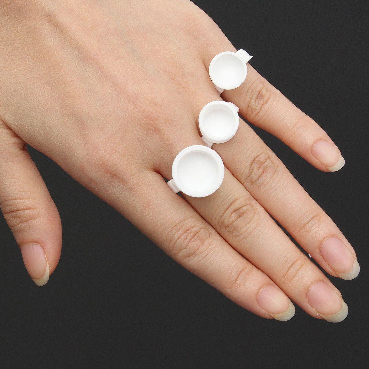 10Pcs White Plastic Ring Ink Tattoo Cups Tattoo Supplies
