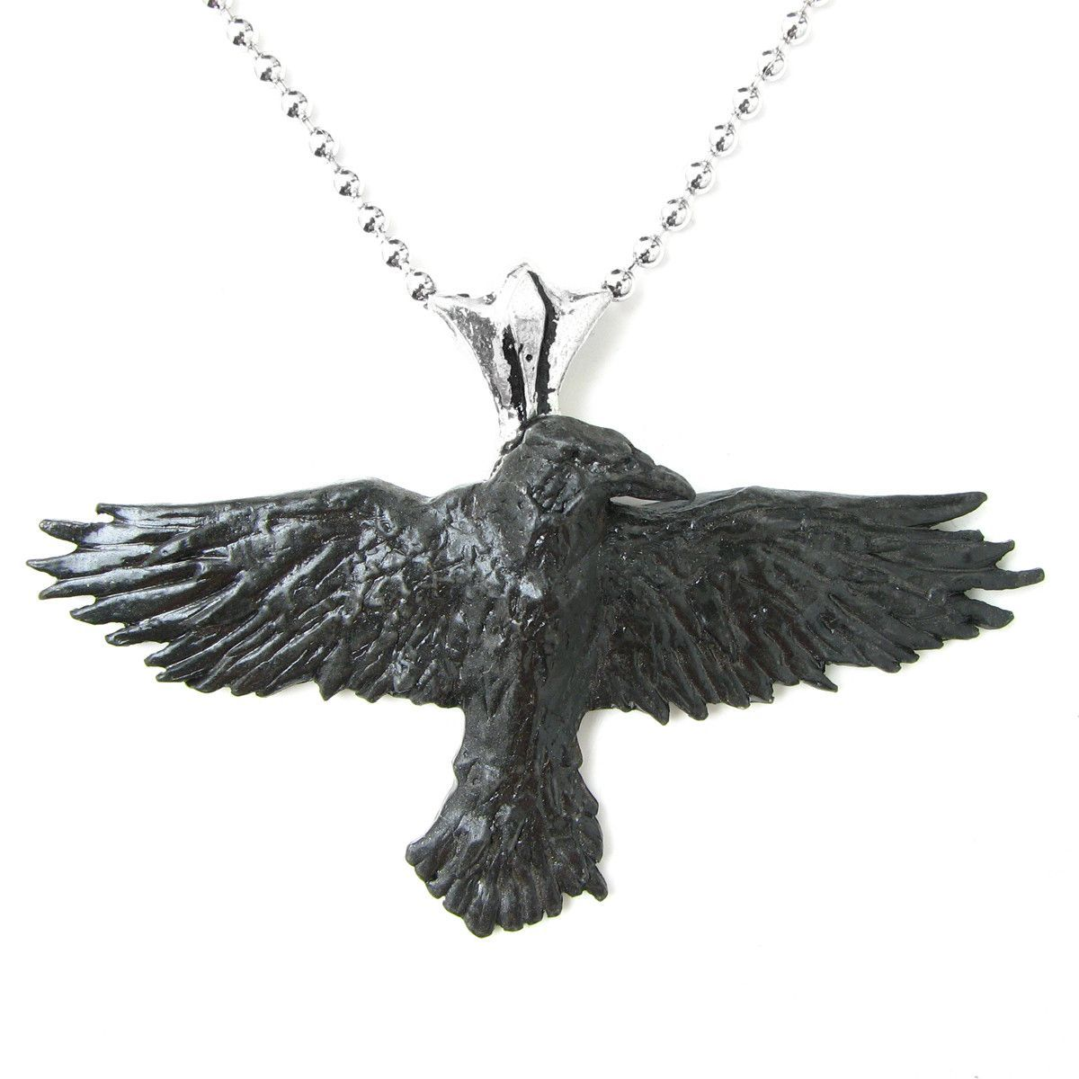 Alchemy Gothic Black Raven Pendant Necklace Crow Things I Want