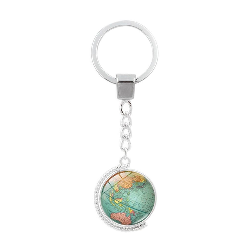 Vintage globe map keychain world map art glass round dome pendant vintage globe map keychain world map art glass round dome pendant key chain fashion jewelry key gumiabroncs Image collections