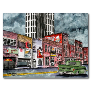 Nashville Tennessee Country Music Capital Art Postcard Zazzle