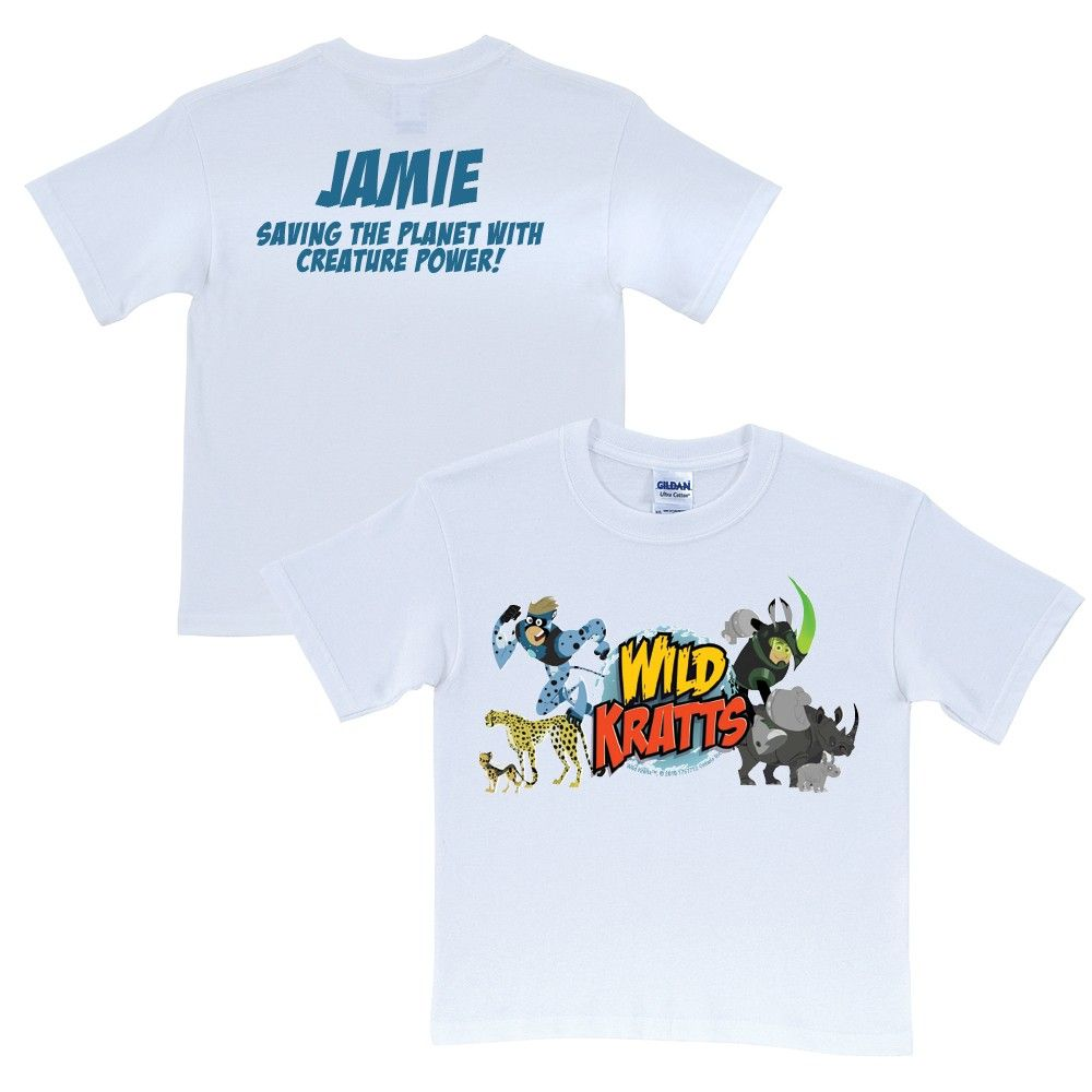 0a85de0a9eb8 Wild Kratts Creature Adventure White T-Shirt from PBS Kids Shop ...