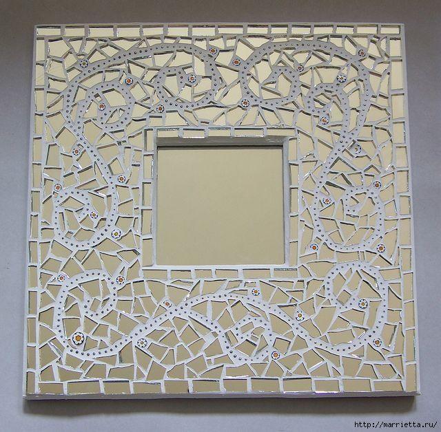 Mosaico espejo. Ideas de lujo para la inspiración (38) (640x628 ...