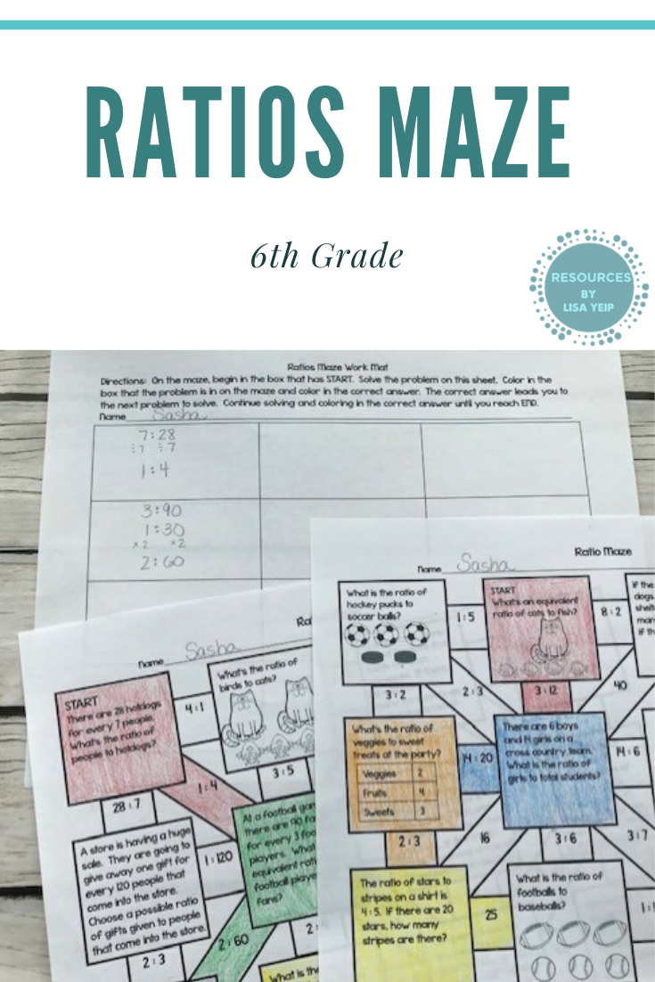 Ratios Math Maze Activity In 2020 Solving Word Problems Learning Worksheets Math Centers [ 1102 x 735 Pixel ]