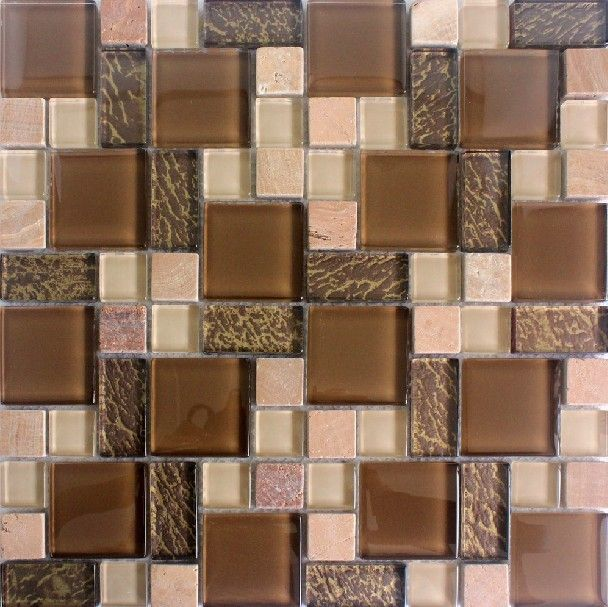 glass mosaic, glass stone mosaic tile, glass stone blend mosaic