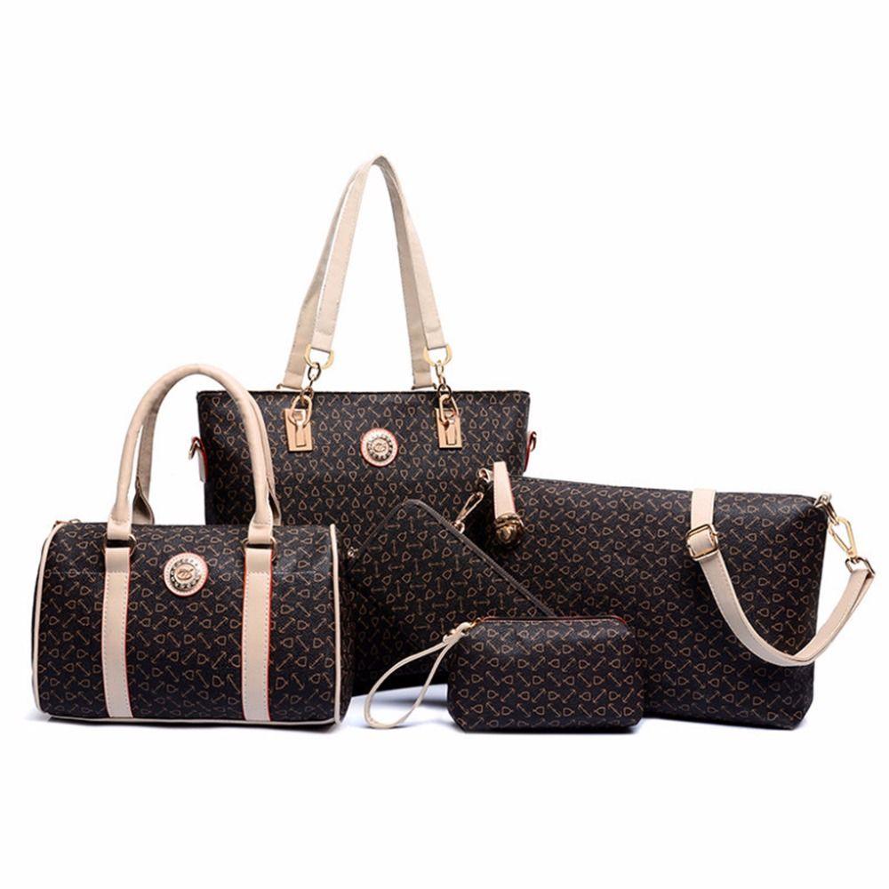 6 대 여성 가죽 Neverfull 핸드백 메신저 복합 가방 여성 브랜드 디자이너 2016 고급 유명 브랜드 패션 가방