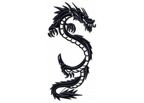 Photo of Chinesisches Drachentattoo – Tribal Dragon # 4 Maschinenstickerei Design –  Chin…