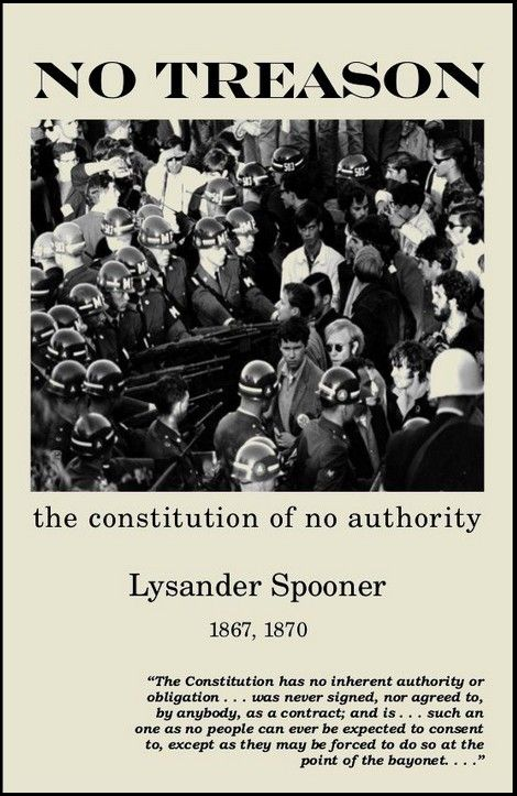"""perhaps lysander spooner s most famous and most provocative  perhaps lysander spooner s most famous and most provocative essays """"no treason"""" first"""