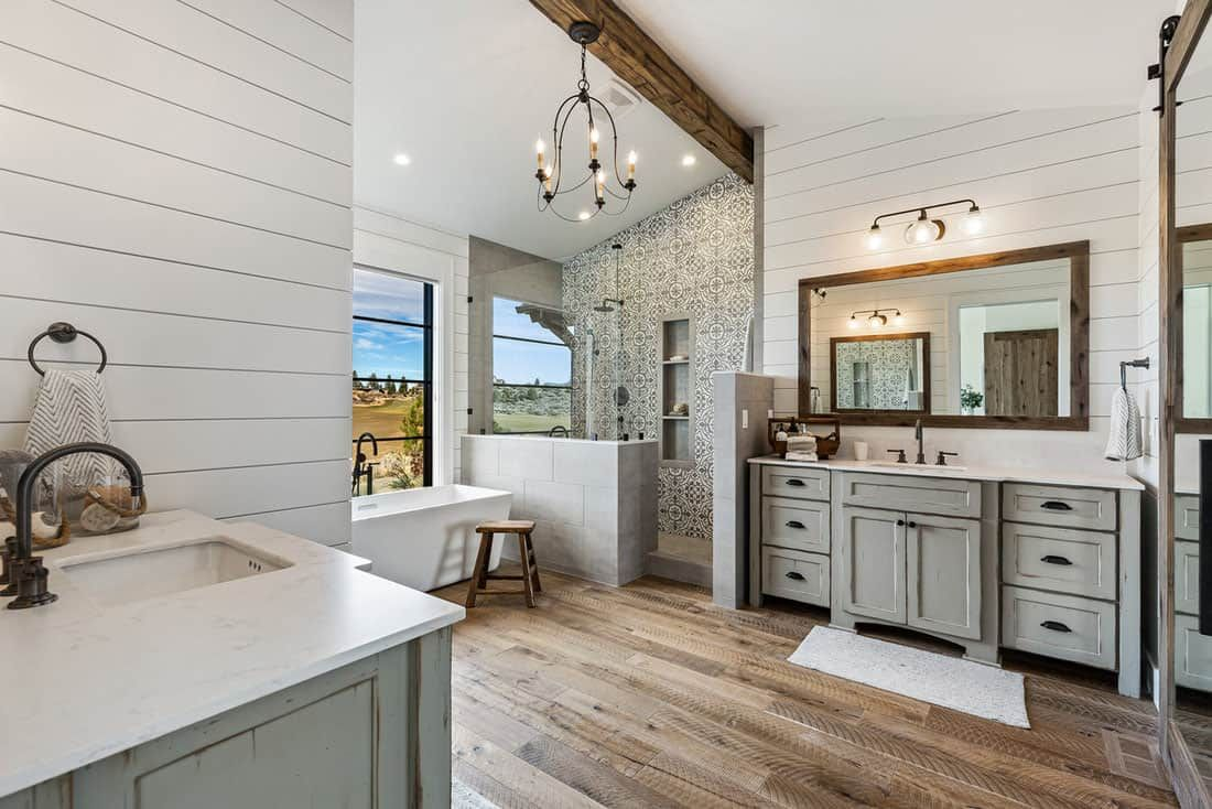 Mountain modern farmhouse with indoor-outdoor living in ... on Farmhouse Outdoor Living Space id=59090