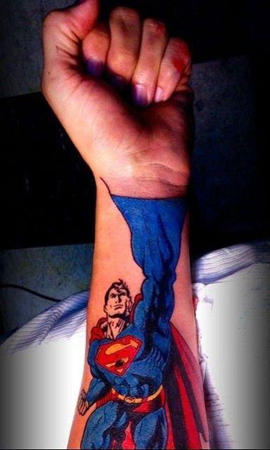 e37e27327 Tattoo'd Lifestyle Magazine Presents: 15 Epic Superman Tattoos Artist:  Cecil Porter