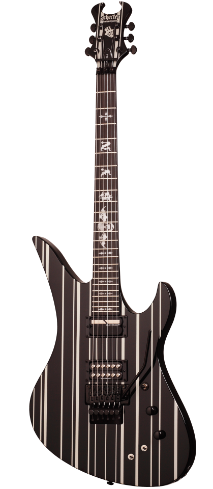Schecter Synyster Gates Custom-S - Black/Silver Electric Guitar