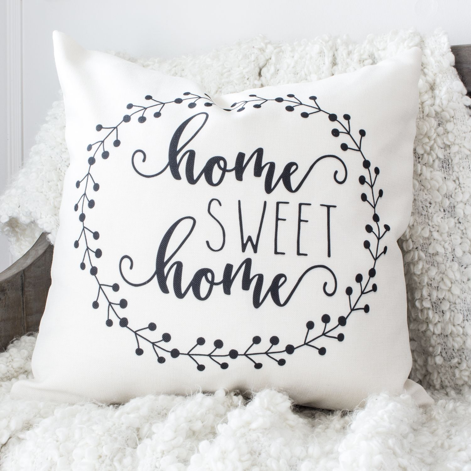 """""""Home Sweet Home"""" Pillow Cover on sale for 27.30! Sweet"""