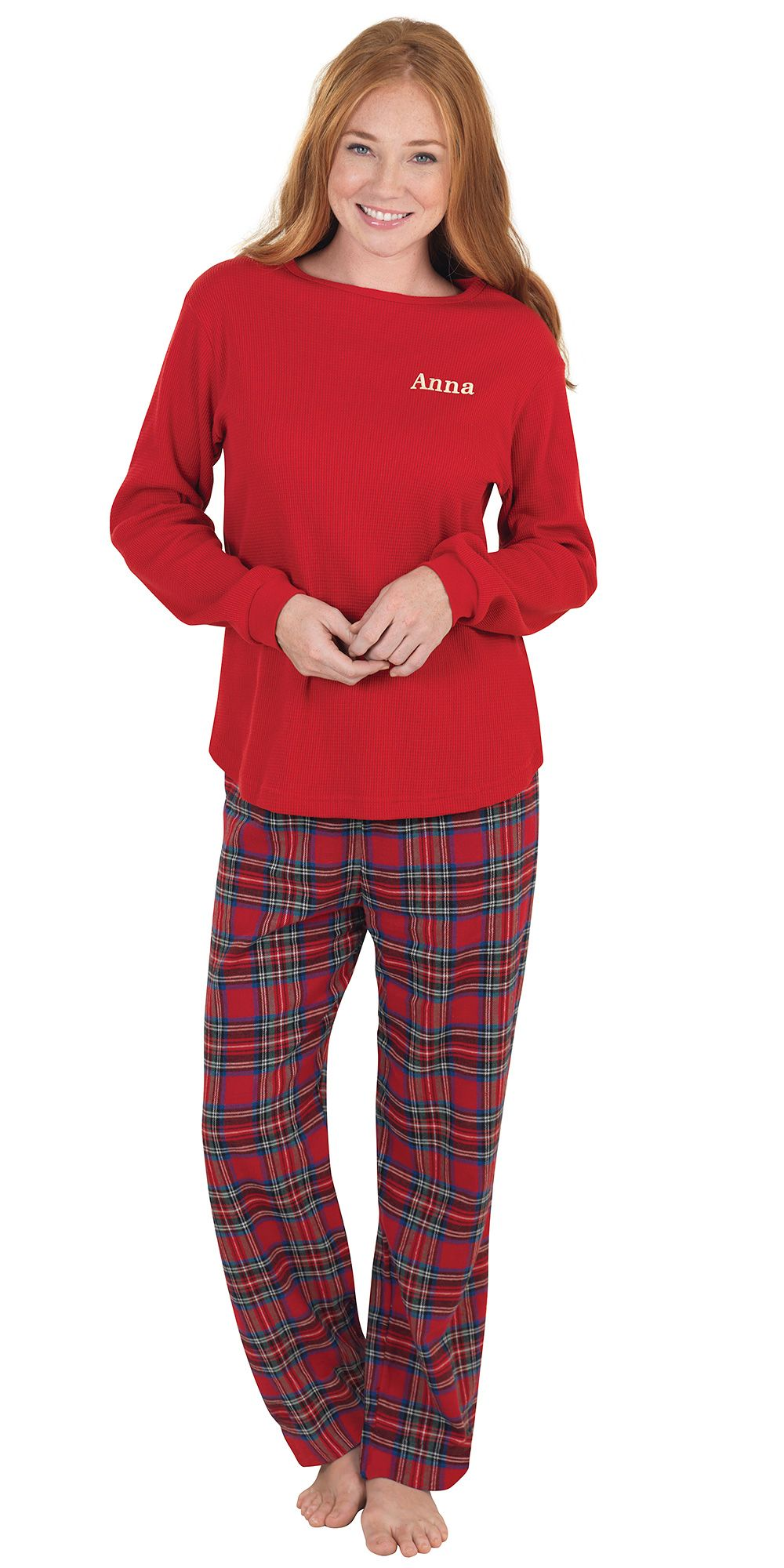 Stewart Plaid Thermal Top PJs for Women size large