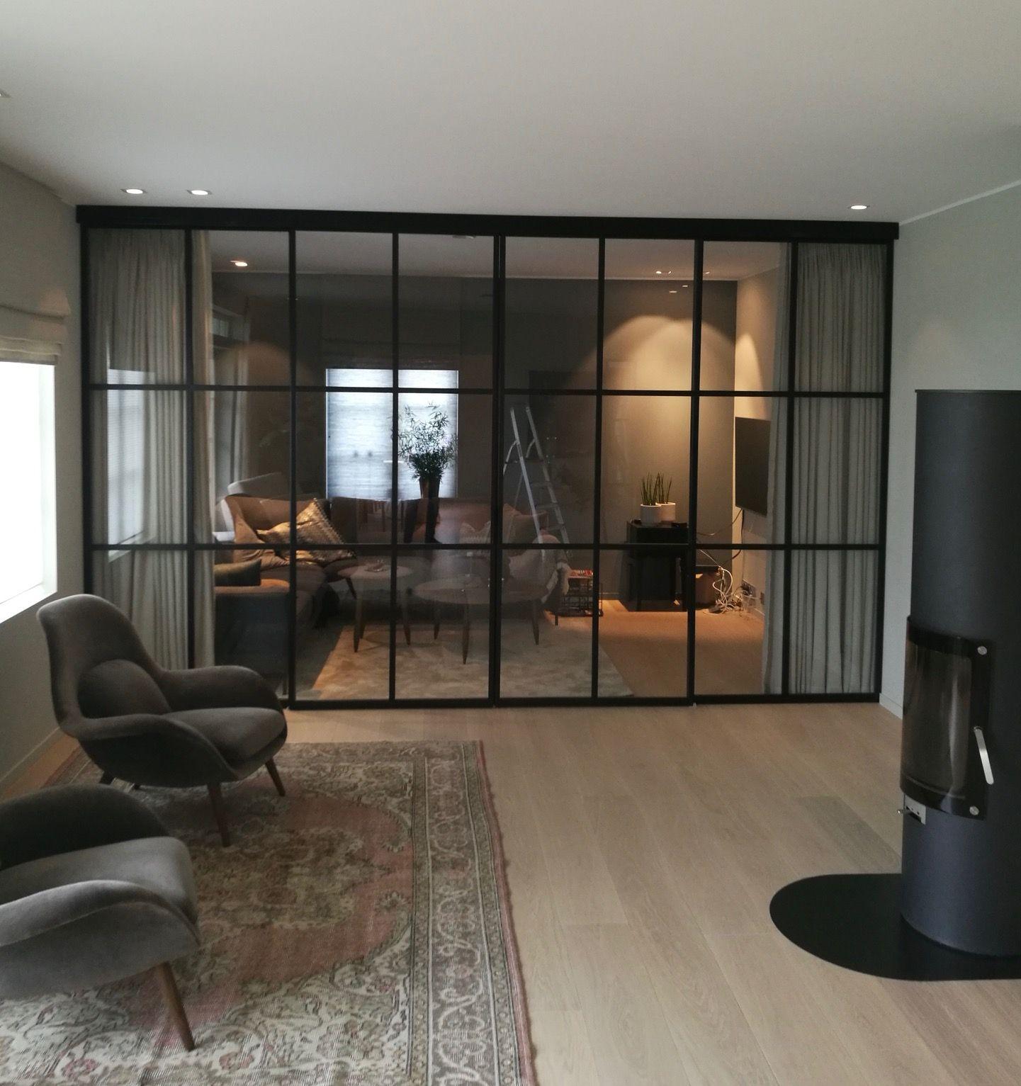 Glass wall / room divider / interior door / iron / wrought iron / steel / metal door and …