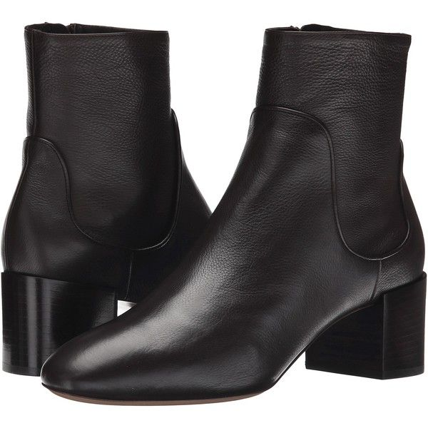 Michael Kors Erin (Chocolate Tumbled Leather) Women's Boots ($220) ❤ liked  on