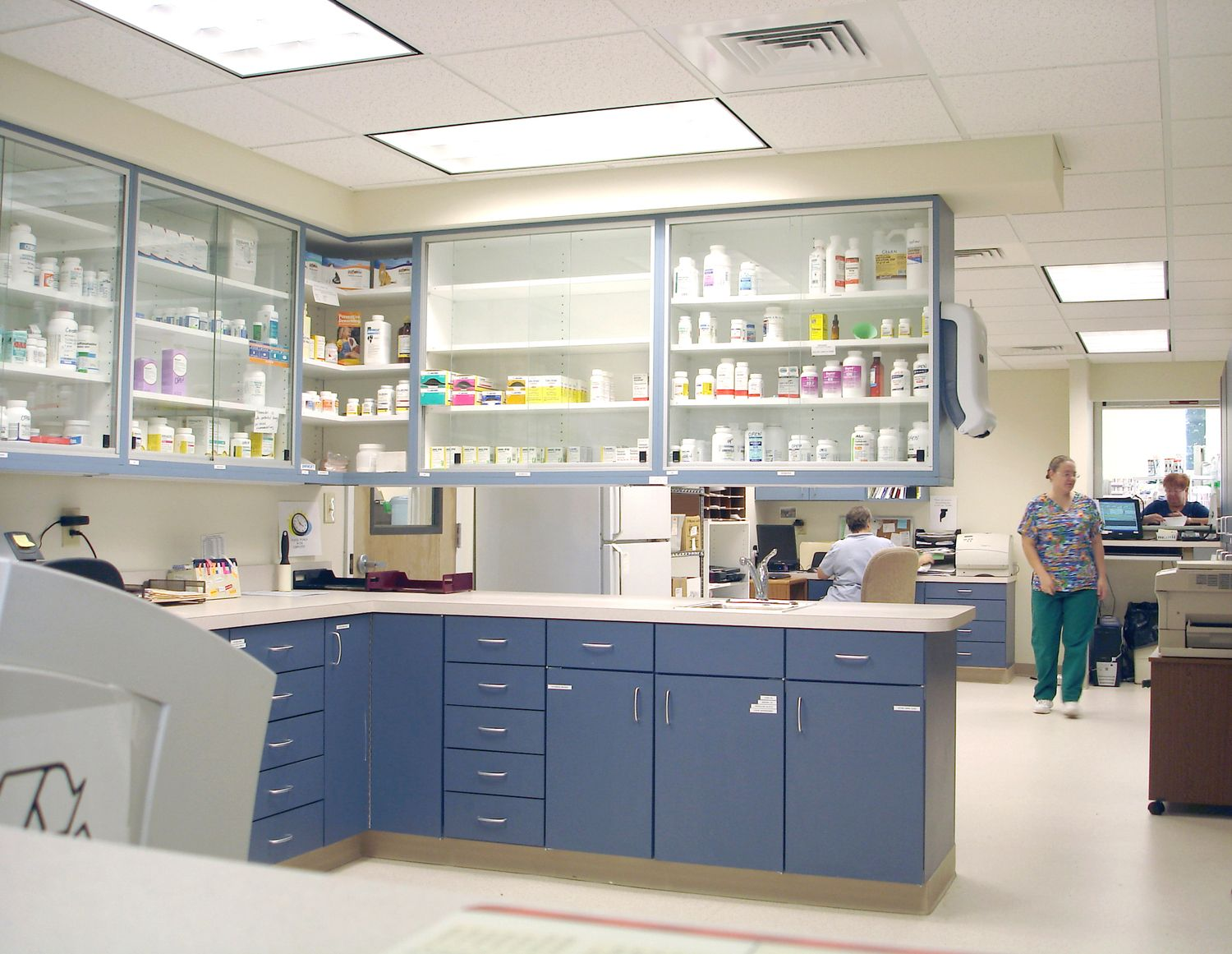 Glass Fronted Pharmacy Cabinet Clinic Design Hospital Interior