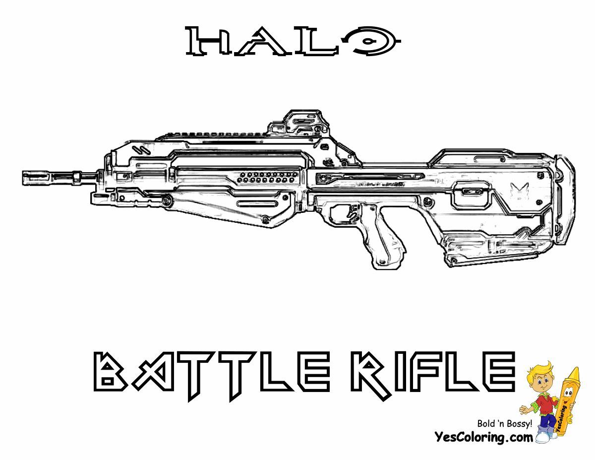 Fierce Halo Coloring Pages