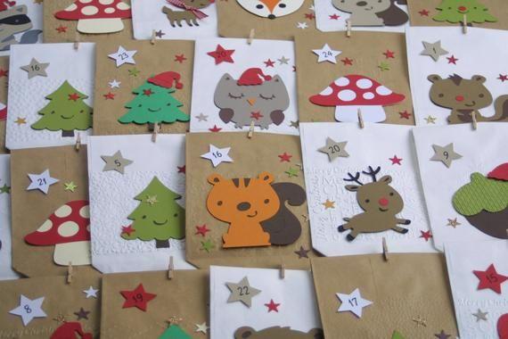 Adventskalender Kinder Wald Tiere Geschenk Weihnachten Advent Kalender Fuchs Eule