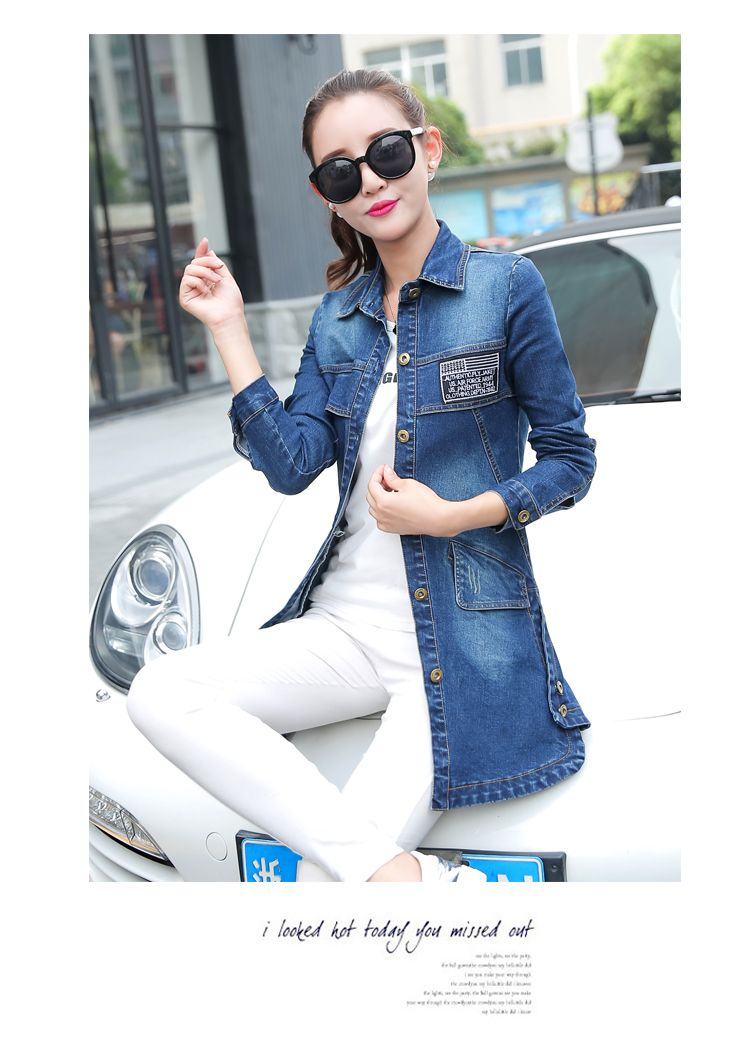 2017 Autumn New Fashion Denim Jacket Women Single Breasted Bomber Jacket Women Long Sleeved Slim Denim Jacket Streetwear Giacca-in Basic Jackets from Women's Clothing & Accessories on Aliexpress.com | Alibaba Group