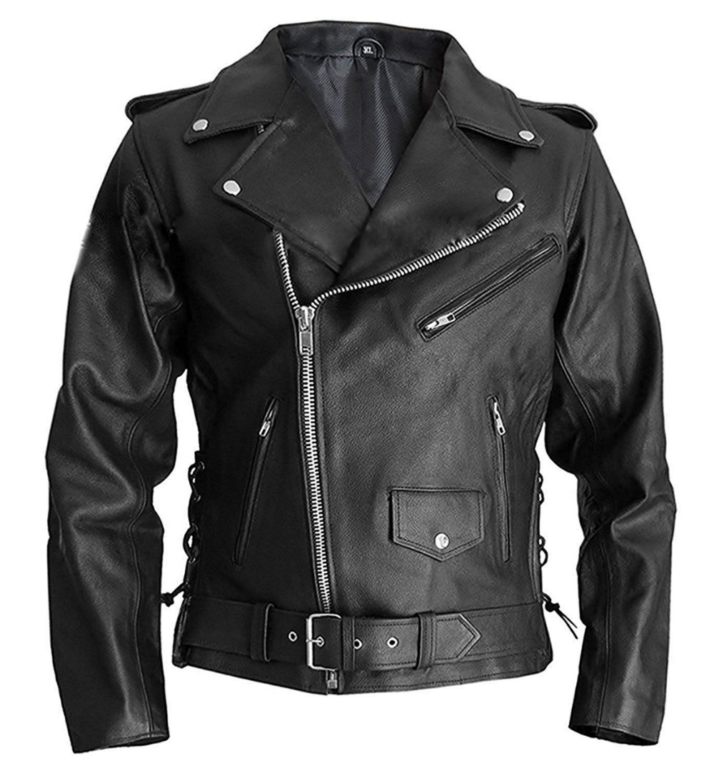 Marlon Brando Terminator Style Leather Jacket in 2020