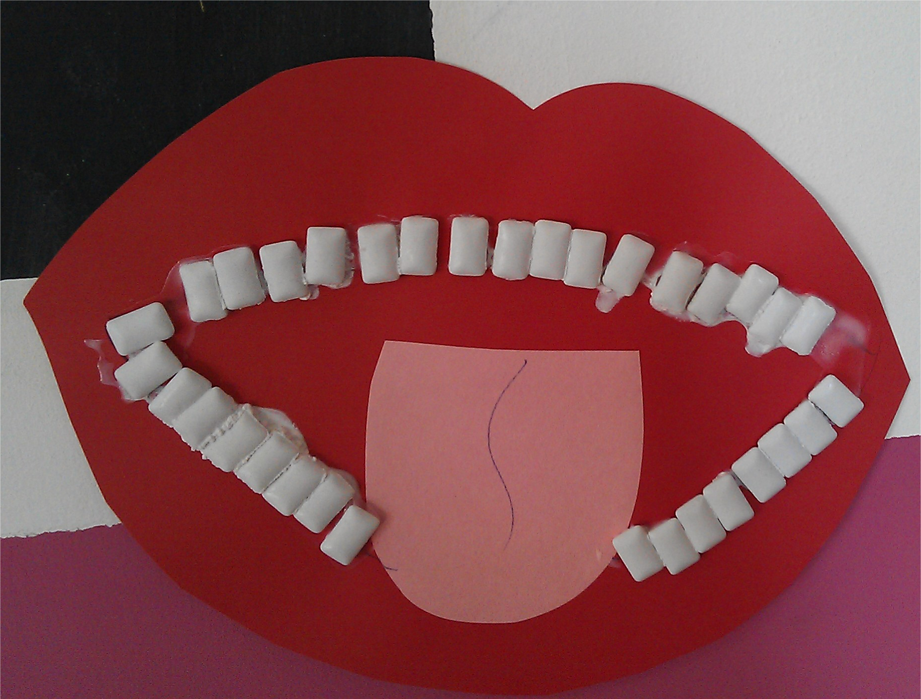 Going to the dentist craft. Use chewing gum for the teeth. Made by @LearnPlayAlcala