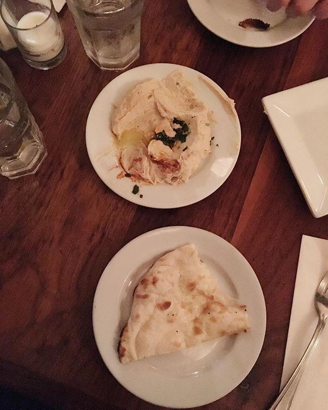 10.16.2016 dinner • 저녁 . 1 slice of pita bread & hummus . 피타 빵 1 조각에 후므스  Yummery - best recipes. Follow Us! #foodporn