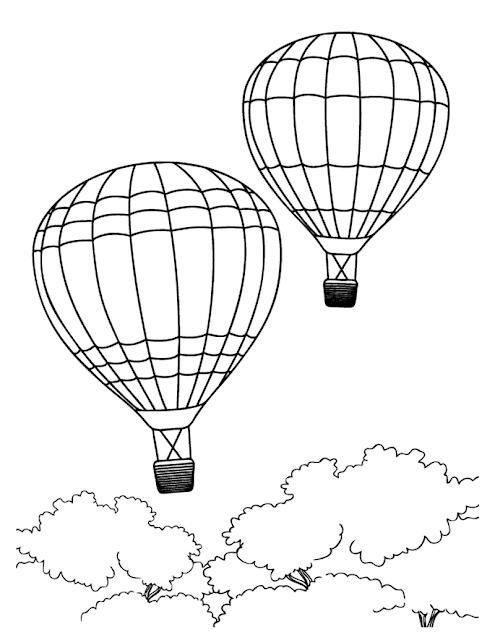 Mewarnai Balon Udara : mewarnai, balon, udara, Gambar, Mewarnai, Balon, Udara, Udara,, Balon,, Halaman