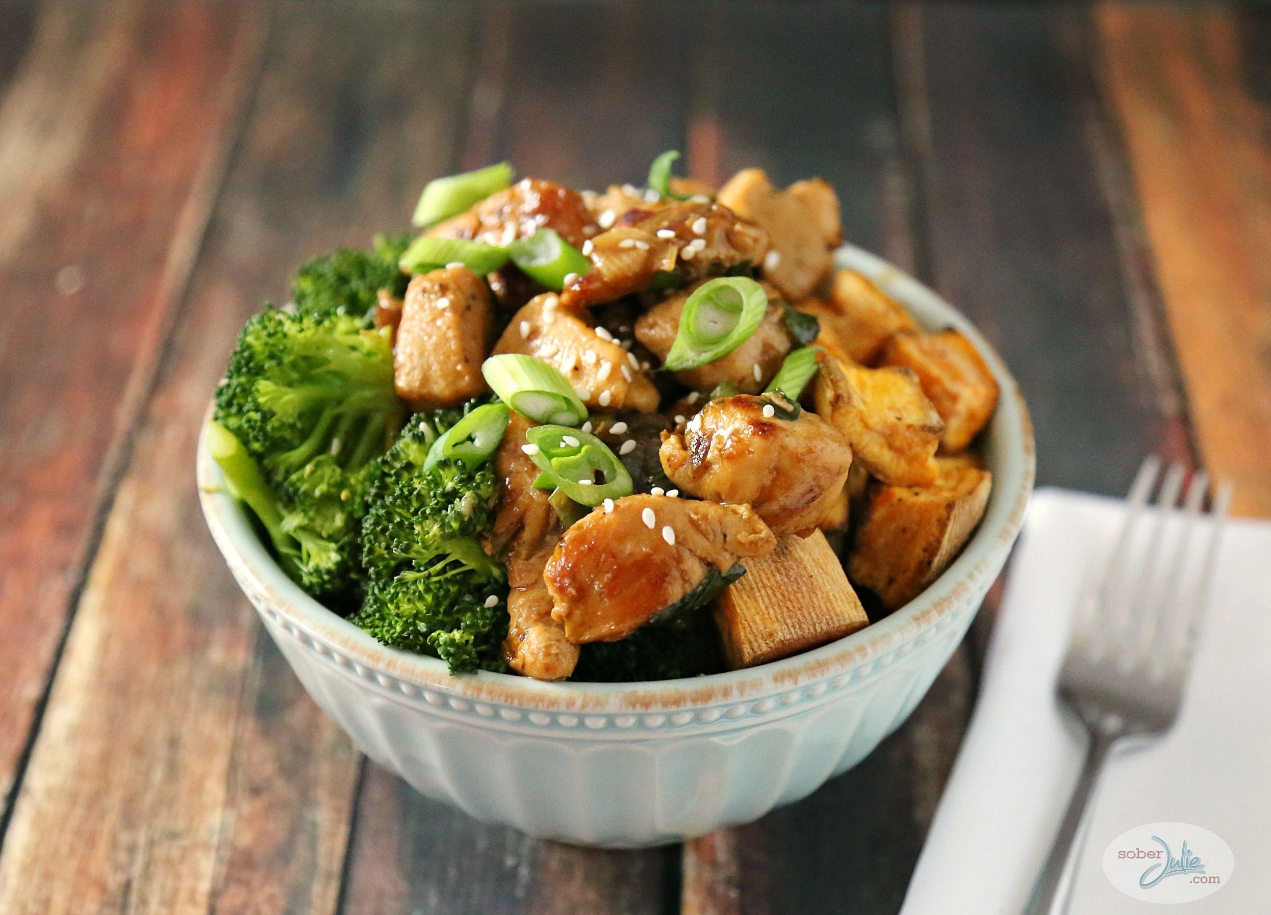 Chicken Teriyaki Bowl With Broccoli And Sweet Potato -6830