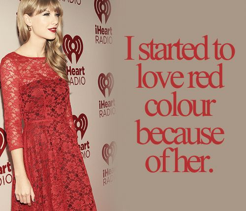 Red Everywhere 3 Swift Secrets Red Was Actual My Favorite Color Before This But It Tota Taylor Swift Facts Taylor Swift Fan Club Taylor Alison Swift