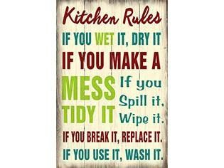 Winston Porter Kitchen Rules Wooden Sign Wall Décor #kitchenrules
