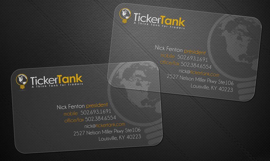 Transparent Plastic Business Card Design   Business Card Design ...