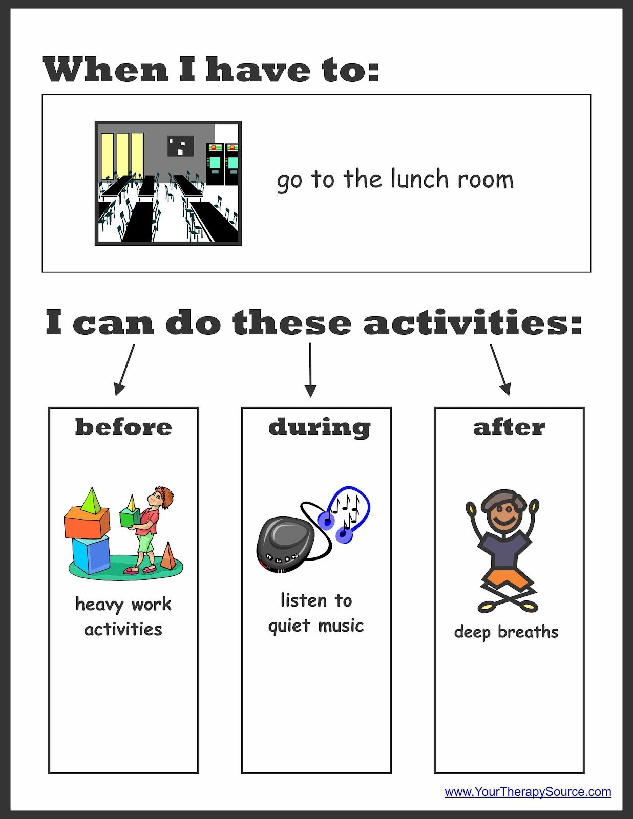 Sensory Preferences Worksheet To Determine Sensory Diet Activities