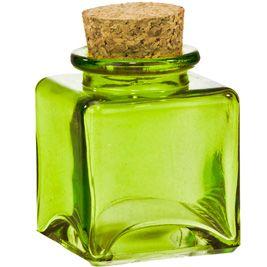 64bf051bbab8 Couronne Co | 1-7oz Jars | 3.4oz Lime Glass Square Jar Im thinking ...