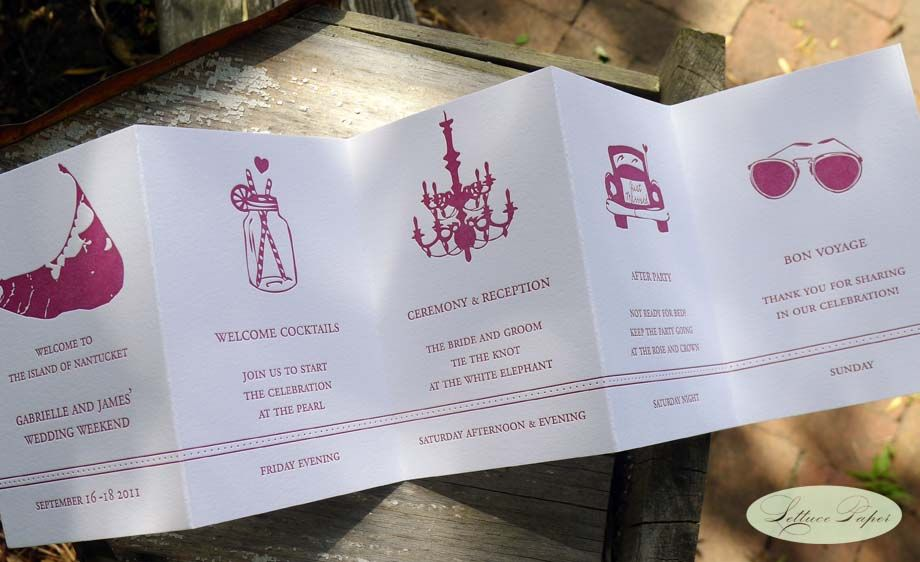 Unique Wedding Itinerary With Fun Icons
