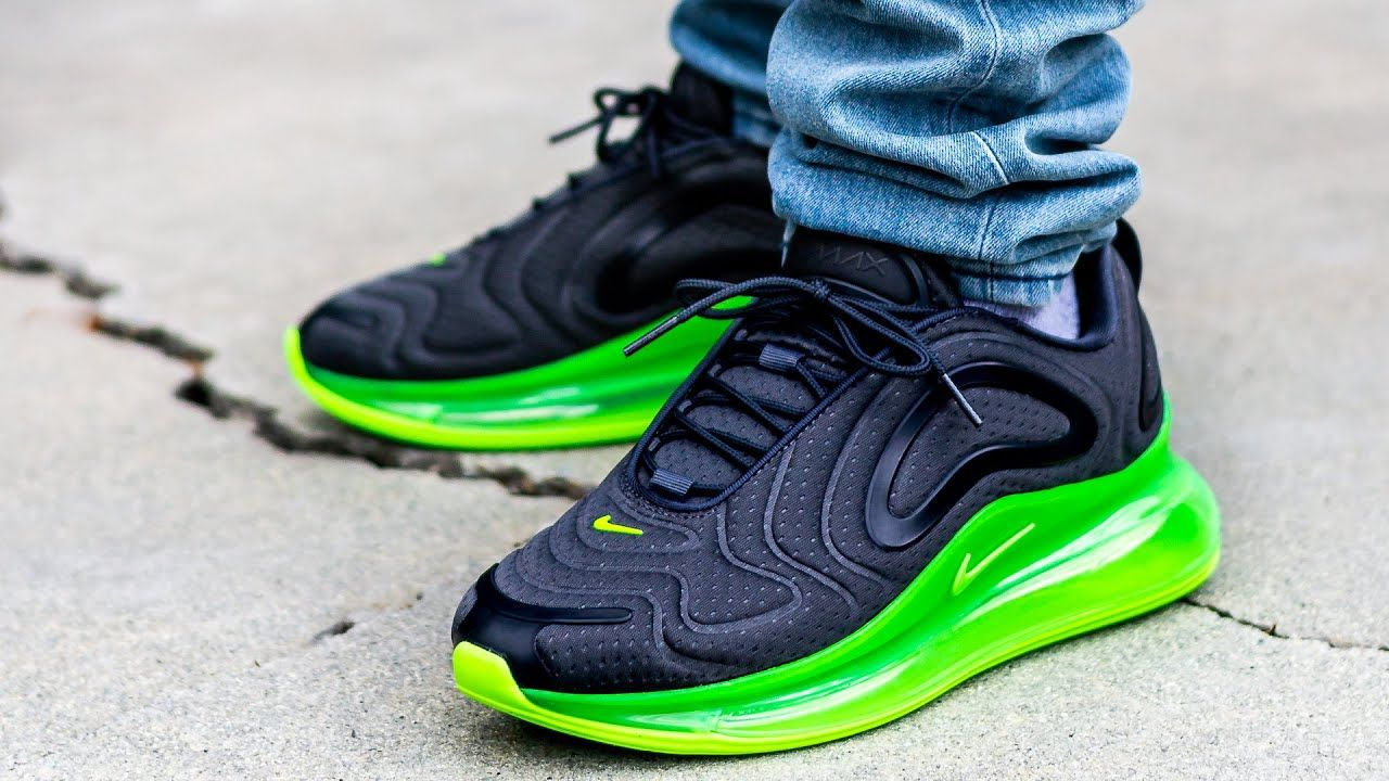 Nike AIR MAX 720 Electric Green On Feet Sneaker Review