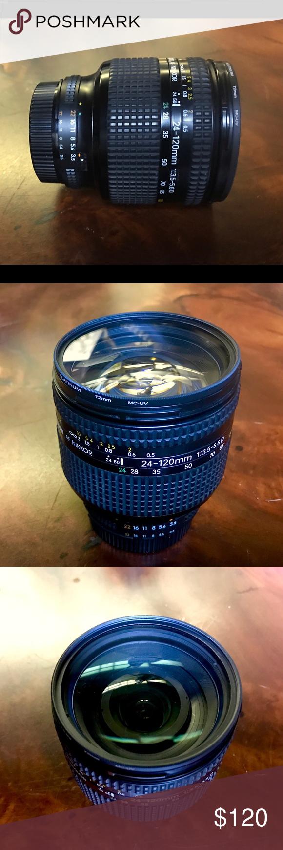 Nikon Af Nikkor Lens Nikon Af Nikkor Lens 24 120mm F 3 5 5 6 72 Degrees Angle A Soft Focus Filter Value At 50 00 Inc Nikon Accessories Lens Other Accessories