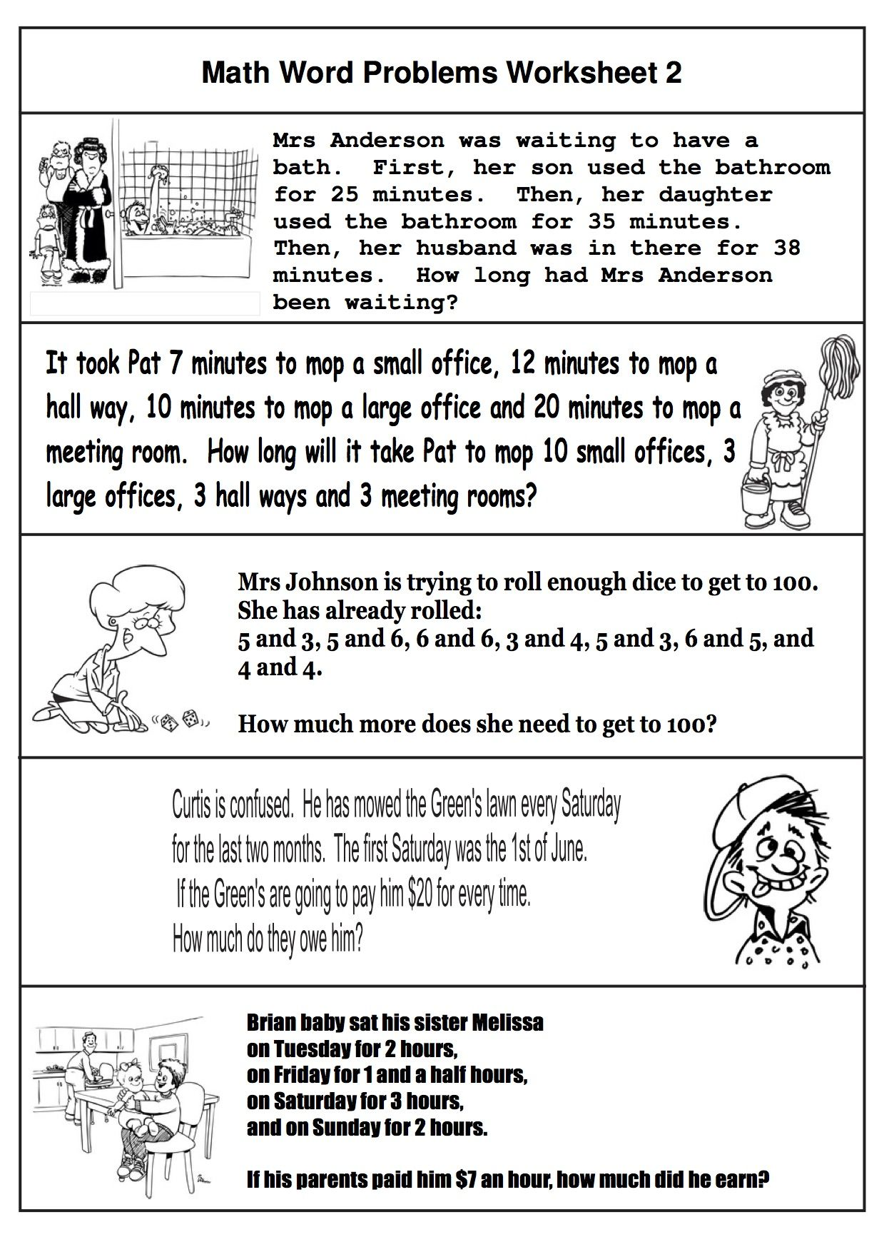 Free Math Word Problems