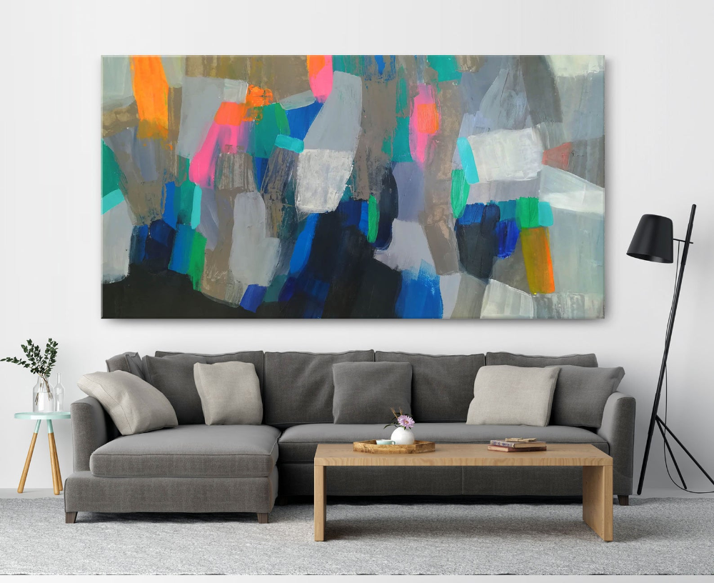 Long Wall Art Large Colorful Wall Art Oversized Wall Art Large Etsy Long Wall Art Oversized Wall Art Colorful Wall Art