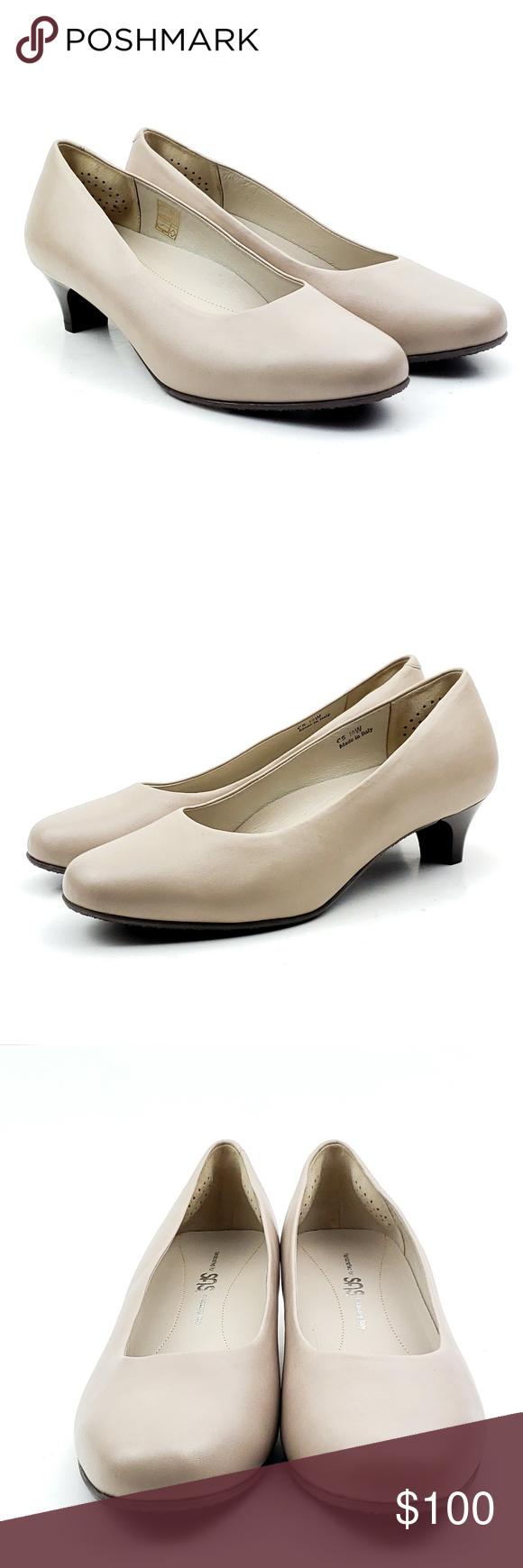 New Sas Elaine Beige Round Toe Italian Heels Sas Model Elaine Womens Color Beige Mfg Color Mushroom Material Lea Italian Heels Round Toe Pumps Heels